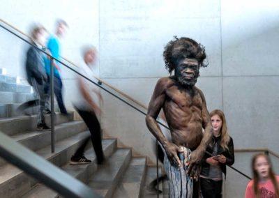 Moesgaard-Museum-Aarhus-Homo-Sapiens-evolutionstrappen