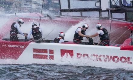 Det danske SailGP-hold slår lejr i Aarhus