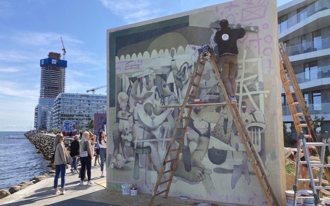 Aarhus Street Art Festival 2021 satte kulør på Aarhus Ø