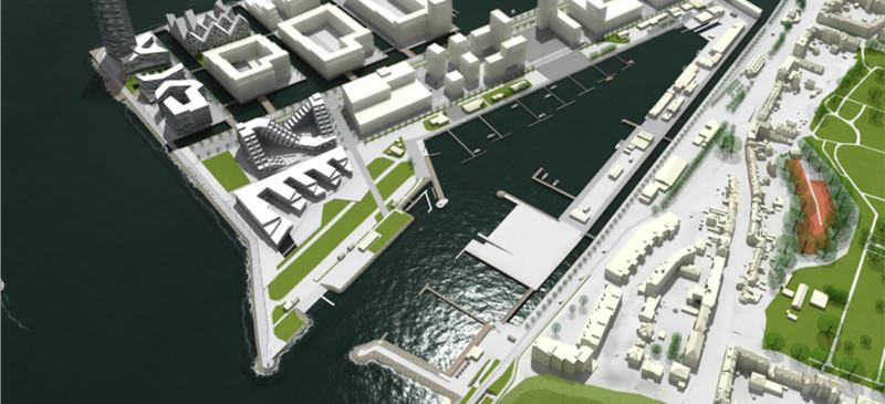 Fem arkitekter skal komme med forslag til Aarhus Internationale Sejlsportscenter