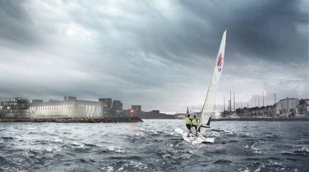 Aarhus Internationale Sejlsportcenter ligger på en fantastisk beliggenhed lige ved indsejlingen til Aarhus