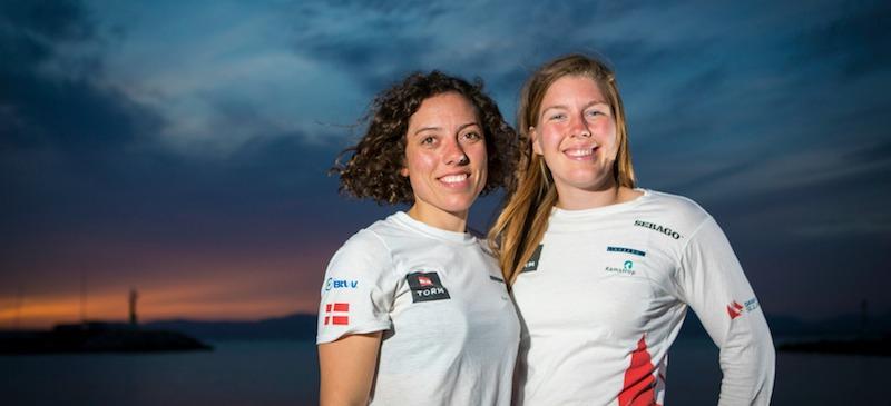 Landsholdssejlerne Ida Marie Baad og Marie Thusgaard Olsen donerer kr. 30.000 til rekruttering af børn og unge til sejlsport i Aarhus