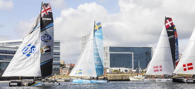 M32 kapsejladsseriens spektakulære katamaraner kommer til Aarhus i weekenden