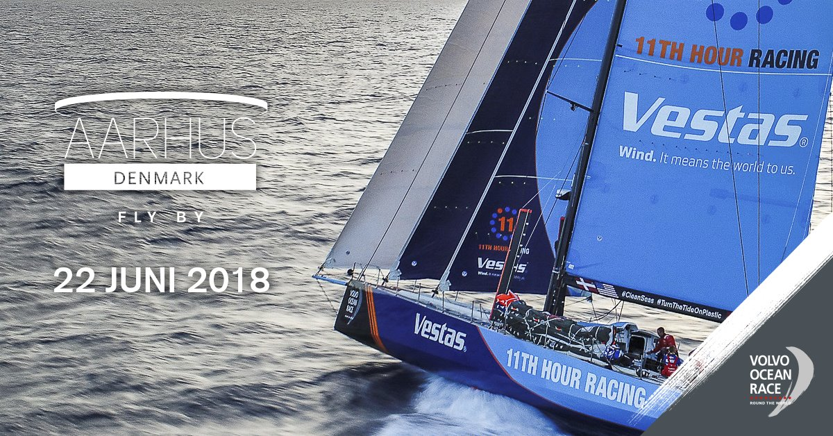 "Volvo Ocean Race ""fly by"" den 22. juni fra vandet"